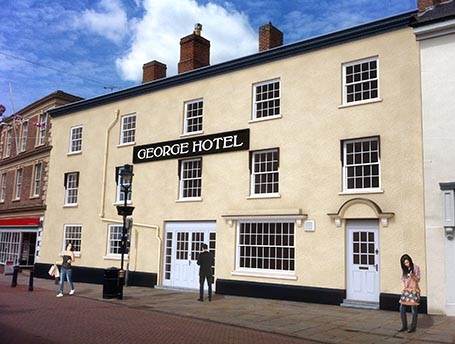 Luxury New build The George Hotel, located in Melton. The historic Melton building was once one of the country's most famous Coaching Inns, we transformed this into one of the most desirable locations to live within the town.